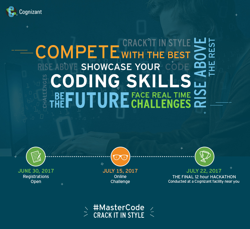 Cognizant MasterCode | Programming challenges in July, 2017