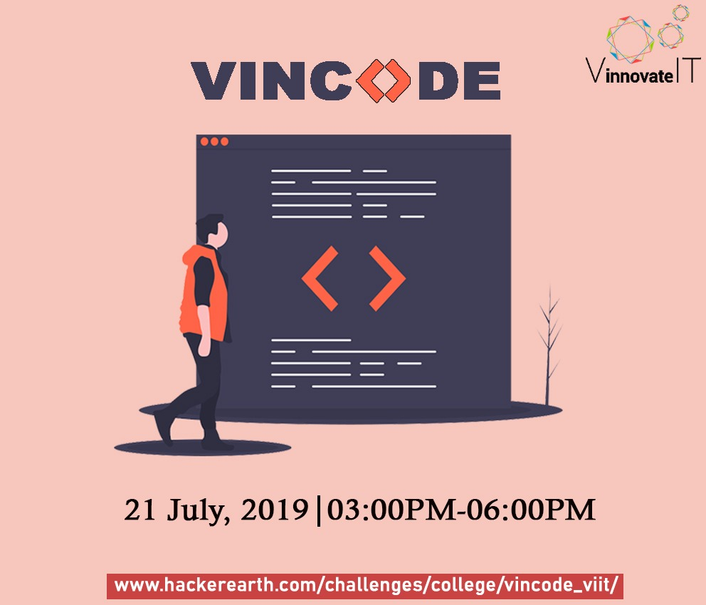 VINCODE | Programming challenges in July, 2019 on HackerEarth