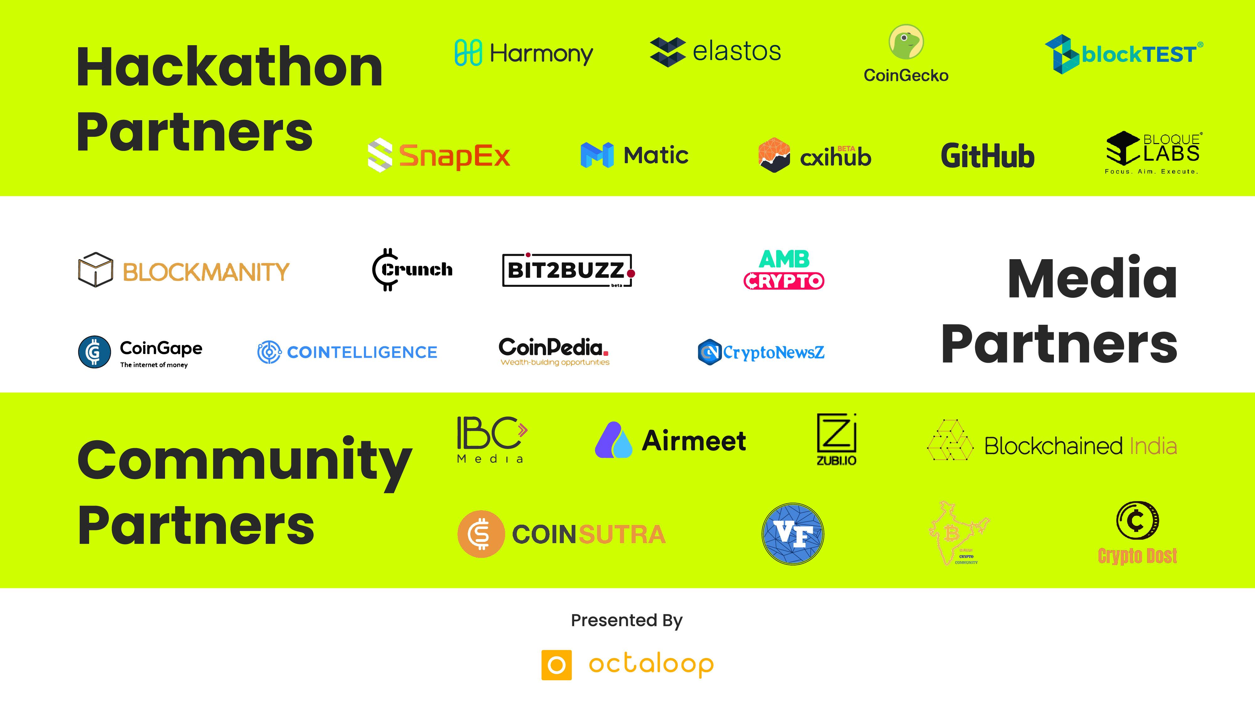 All hackathon partners