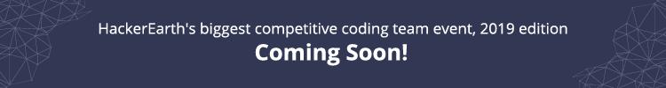 June Easy' 19 | Programming challenges in June, 2019 on