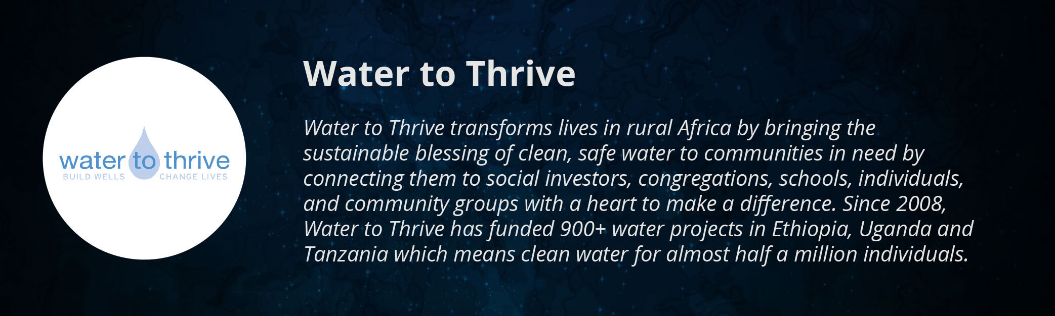 Water to Thrive